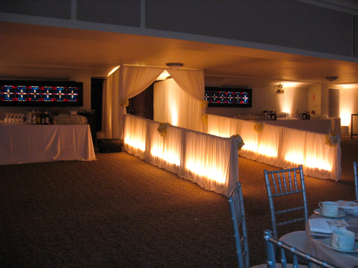 Elegant_Event_Lighting_Chicago_Loyola_University_Mundelien_Hall_Wedding_Entrance_Draping