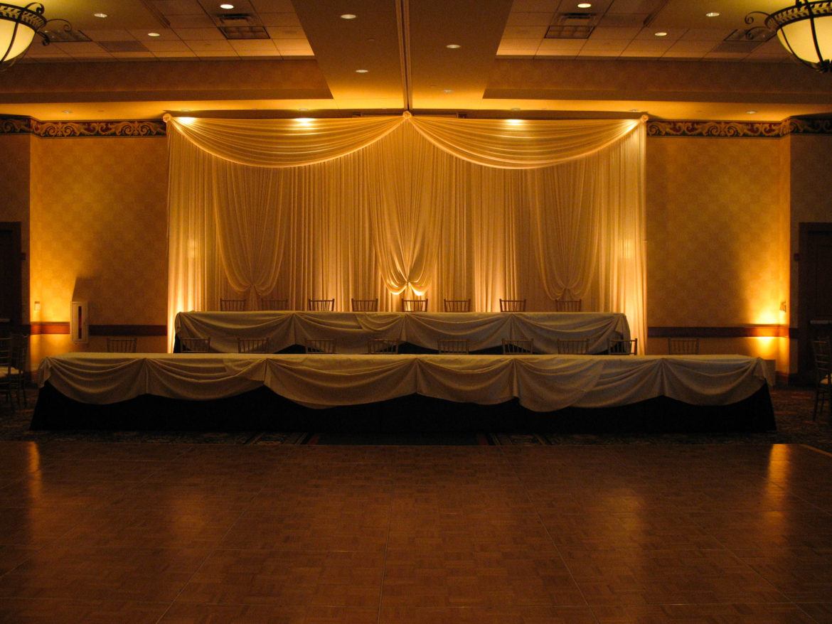 Elegant_Event_Lighting_Chicago_Mariott_Burr_Ridge_Burr_Ridge_Wedding_Uplighting_Amber_Backdrop_Draping