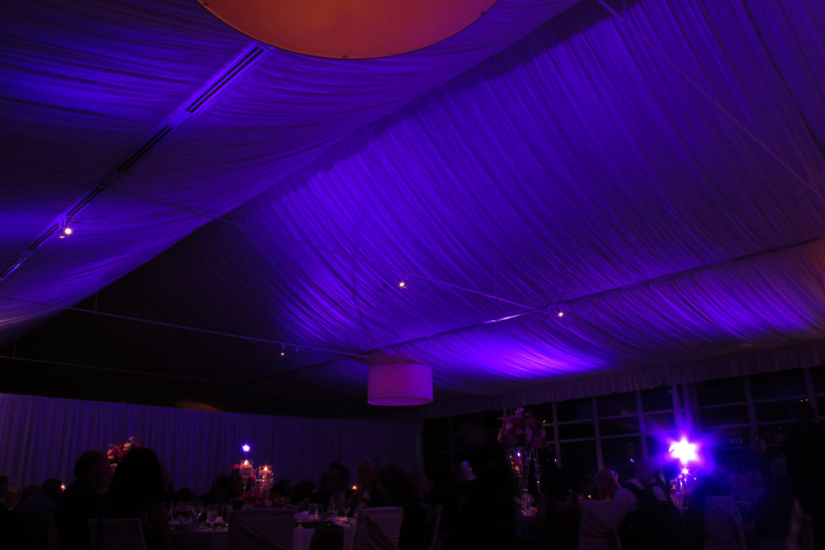 Elegant_Event_Lighting_Chicago_Mariott_Lincolnshire_Lincolnshire_Wedding_Purple_Ceiling_Lighting_Tent