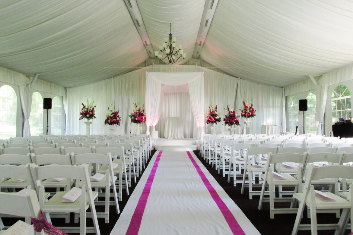 Elegant_Event_Lighting_Chicago_Mariott_Lincolnshire_Lincolnshire_Wedding_Uplighting_White_Backdrop_Draping_Ceiling_Drapes_Chuppah_Bridal_Canopy_White_Aisle_Runner_Flower