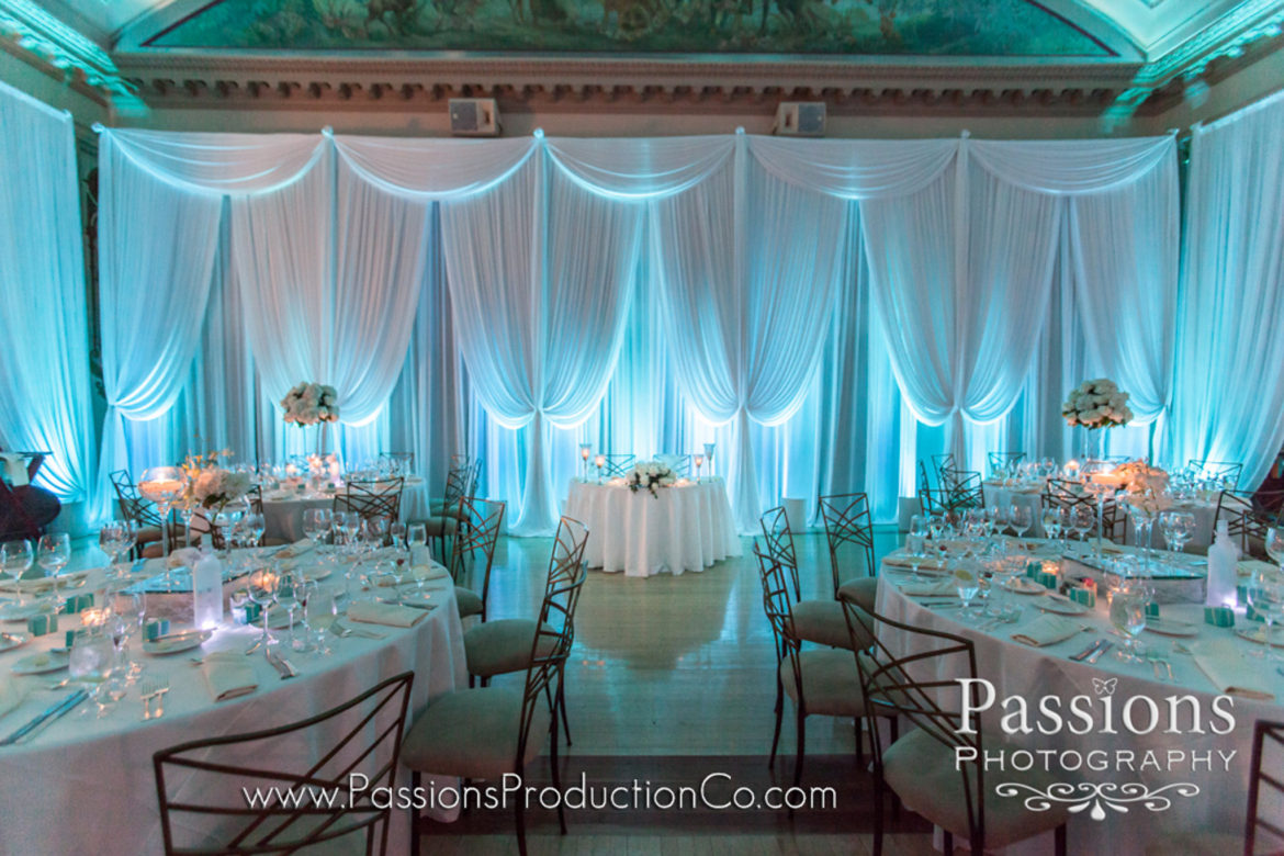Elegant_Event_Lighting_Chicago_Medinah_Country_Club_Medinah_Wedding_White_Draping_Blue_LED_UPlighting_Reception_Sweetheart_Table