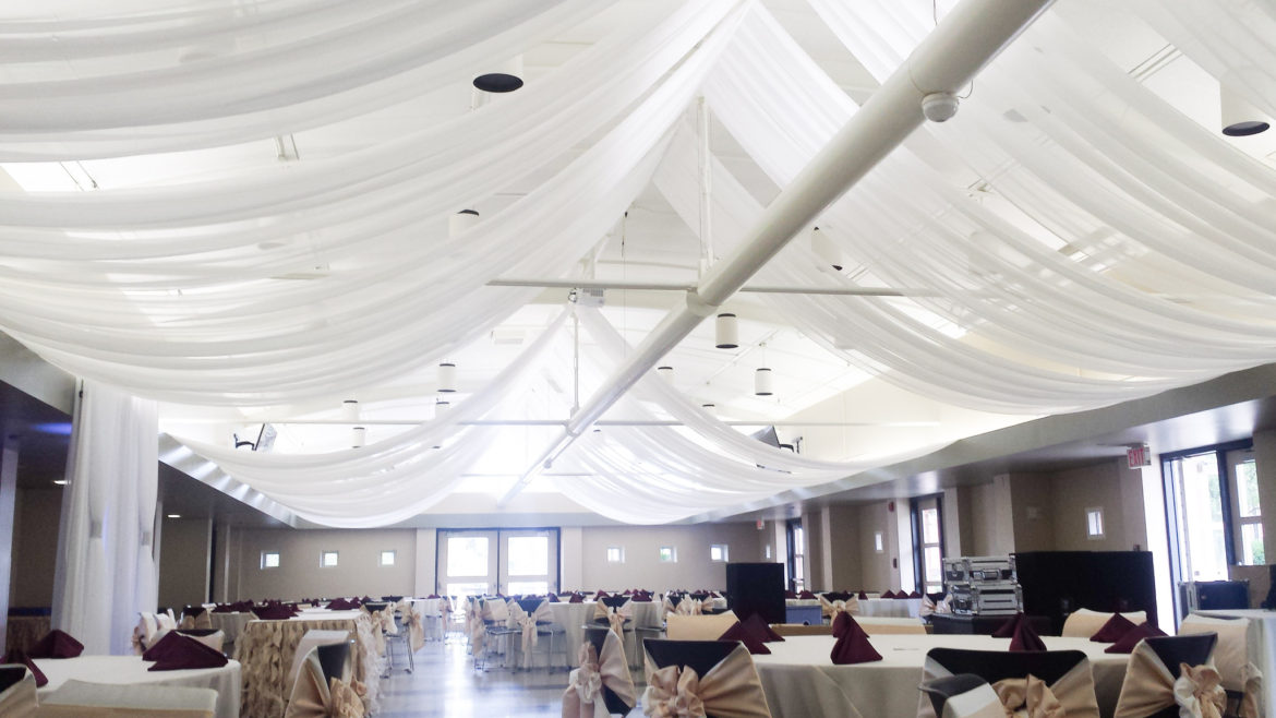 Elegant_Event_Lighting_Chicago_Orland_Park_Civic_Center_Wedding_Ceiling_Draping_Decor