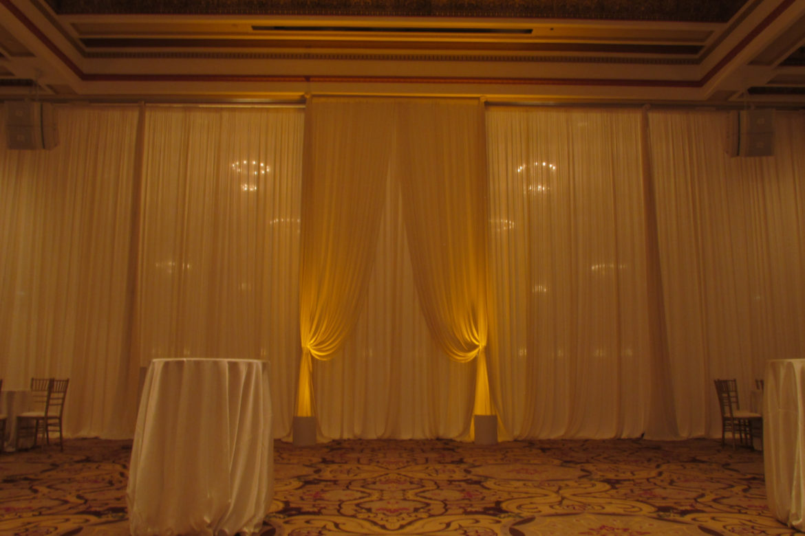 Elegant_Event_Lighting_Chicago_Palmer_House_Wedding_State_Room_Drape_Entrance_Divide