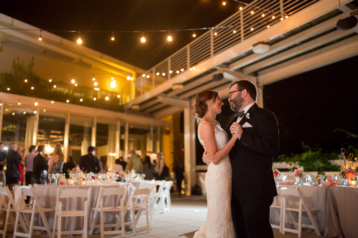 Elegant_Event_Lighting_Chicago_Peggy_Notebaert_Wedding_Outdoor_Cafe_Globe_Lights_First_Dance