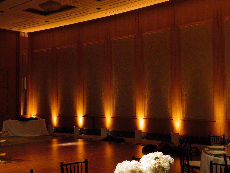 Elegant_Event_Lighting_Chicago_Peninsula_Hotel_Wedding_Uplighting_Dance_Floor_Flower_Centerpice_Lighting