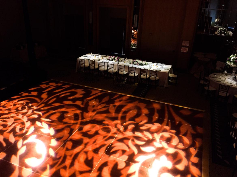 Elegant_Event_Lighting_Chicago_Peninsula_Hotel_Wedding_Uplighting_Dance_Floor_Pattern_Lighting