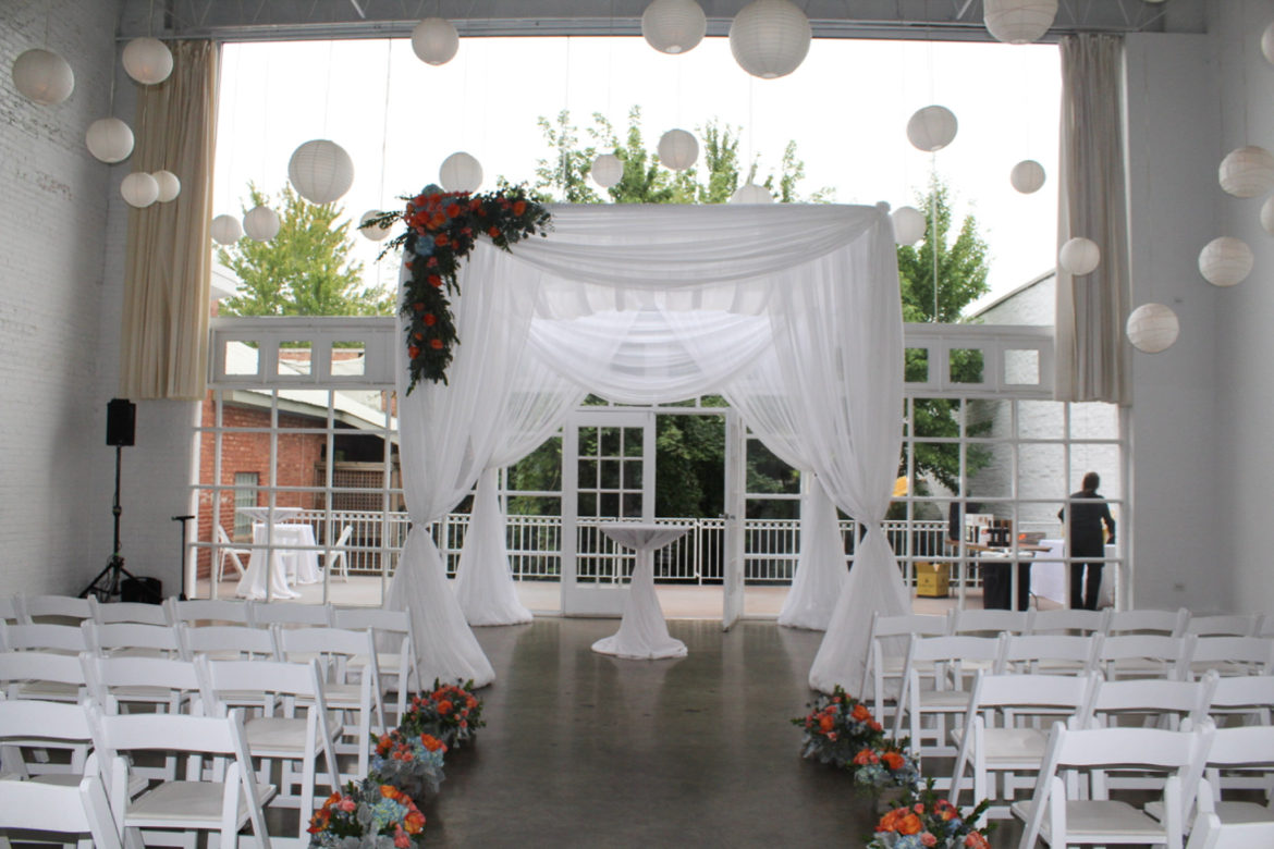 Elegant_Event_Lighting_Chicago_Prarie_Production_Wedding_White_Chuppah_Bridal_Canopy_Ceremony_Paper_Lanterns_Paper_Globes_Flower