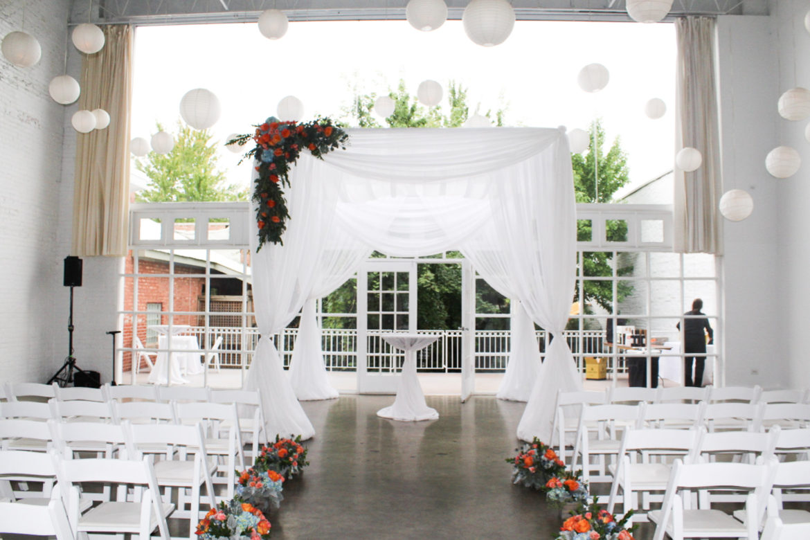 Elegant_Event_Lighting_Chicago_Prarie_Production_Wedding_White_Chuppah_Bridal_Canopy_Ceremony_Paper_Lanterns_Paper_Globes_Flower.