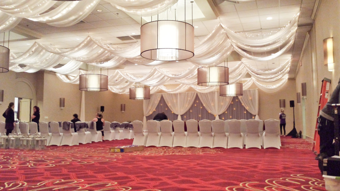 Elegant_Event_Lighting_Chicago_Renaissance_Northbrook_Wedding_Backdrop_Twinkle_Ceiling_Draping_Fairy_Lights_Cloud_Ceiling_Drapes