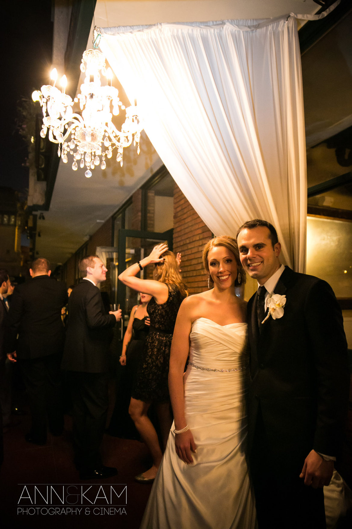 Elegant_Event_Lighting_Chicago_River_Roast_WeddingWedding_Amber_Outdoor_Lights_Drapes_Draping_Ivory_Crystal_Chandeliers_Bride_Groom