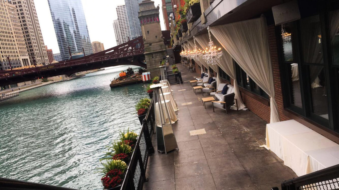 Elegant_Event_Lighting_Chicago_River_Roast_Wedding_Amber_Outdoor_Day_Lights_Drapes_Draping_Ivory_Crystal_Chandeliers