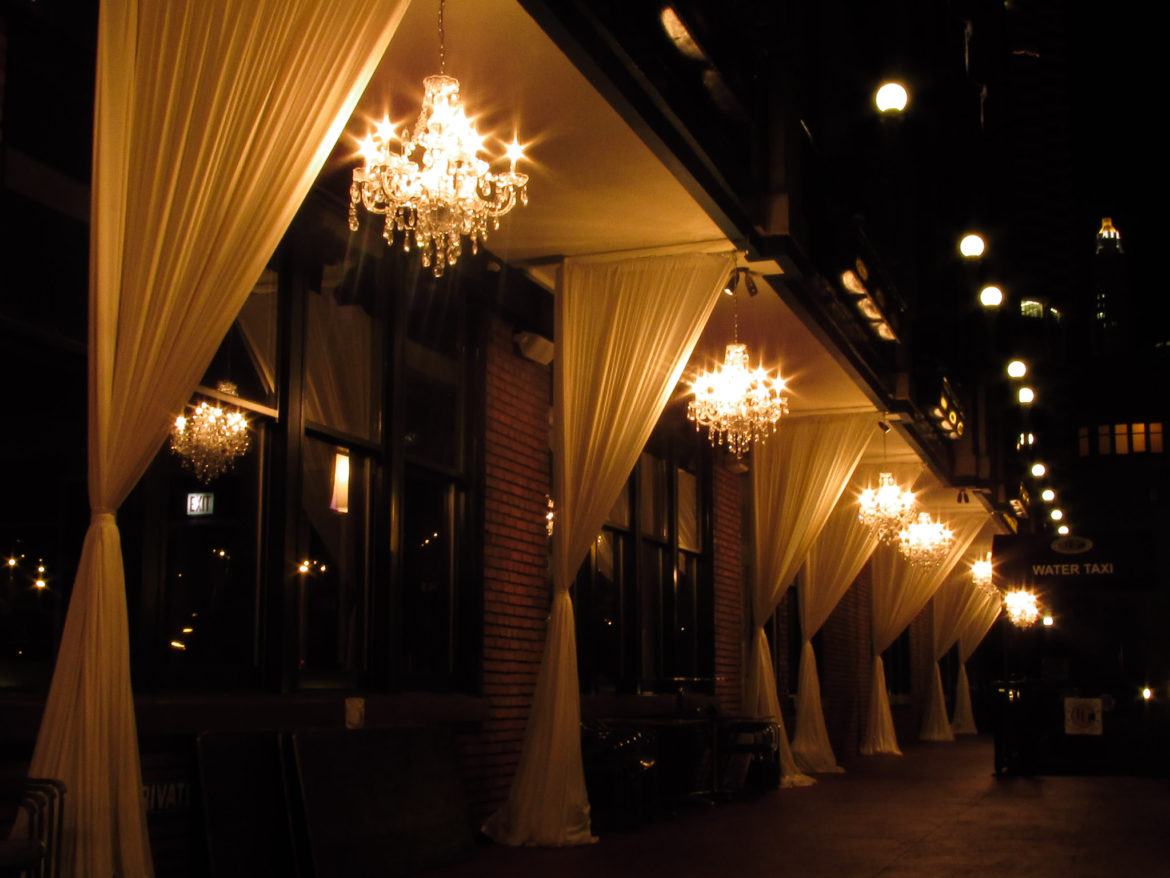 Elegant_Event_Lighting_Chicago_River_Roast_Wedding_Amber_Outdoor_Lights_Drapes_Draping_Ivory_Crystal_Chandeliers