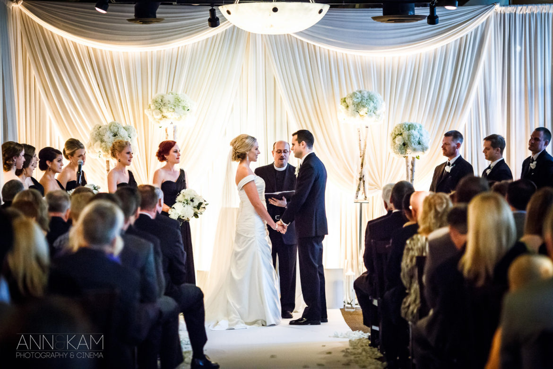 Elegant_Event_Lighting_Chicago_River_Roast_Wedding_Amber_Uplighting_Ivory_Backdrop_Aisle_Runner_Flower_Lighting