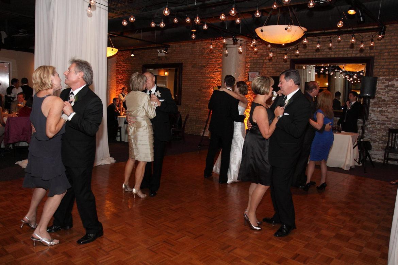 Elegant_Event_Lighting_Chicago_River_Roast_Wedding_Amber_Uplighting_Rustic_Cafe_Globe_Lighting