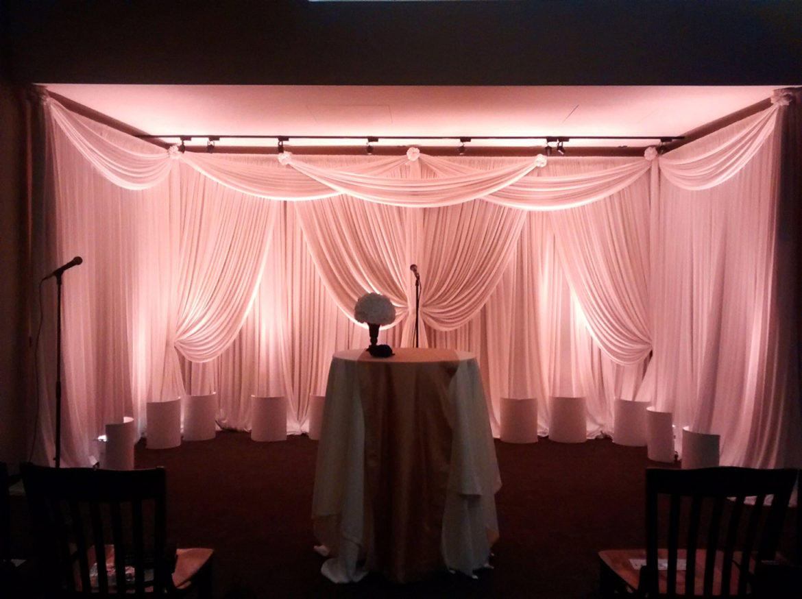 Elegant_Event_Lighting_Chicago_River_Roast_Wedding_White_Draping_Backdrop_Blush_PInk_UPlighting_Ceremony