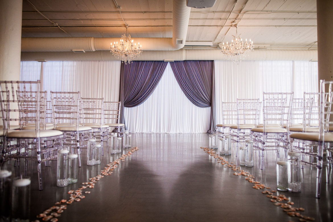 Elegant_Event_Lighting_Chicago_Room_1520_Wedding_Backdrop_Draping_Crystal_Chandeliers_Ceremony_Flower