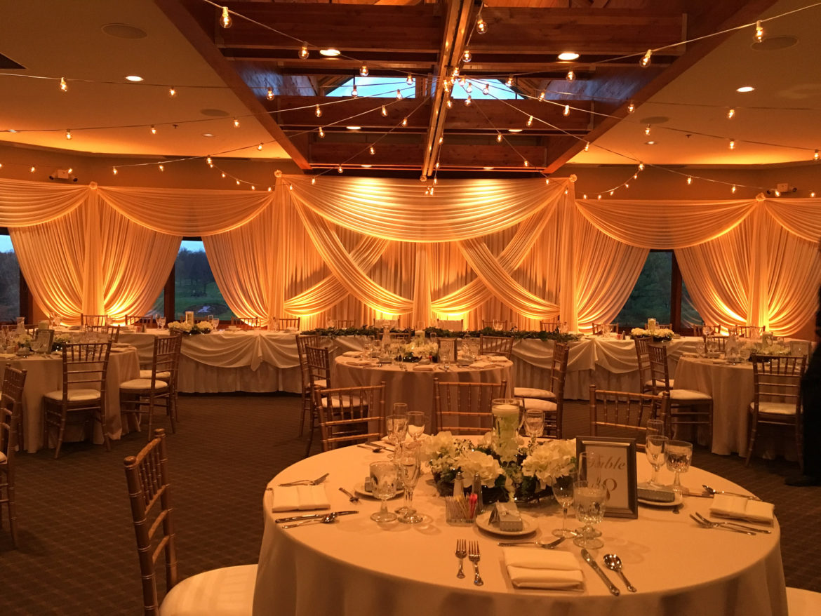 Elegant_Event_Lighting_Chicago_Seven_Bridges_Wedding_Amber_Uplighting_Ivory_Backdrop_Draping_Cafe_Globe_Lights_Reception