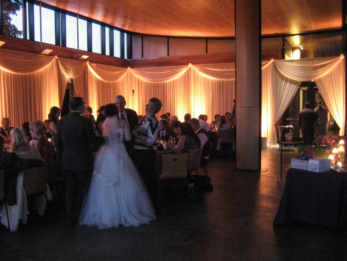 Elegant_Event_Lighting_Chicago_The_Morton_Arboretum_Lisle_Sycamore_Room__Wedding_Ivory_Amber_LED_Uplighting_Draping