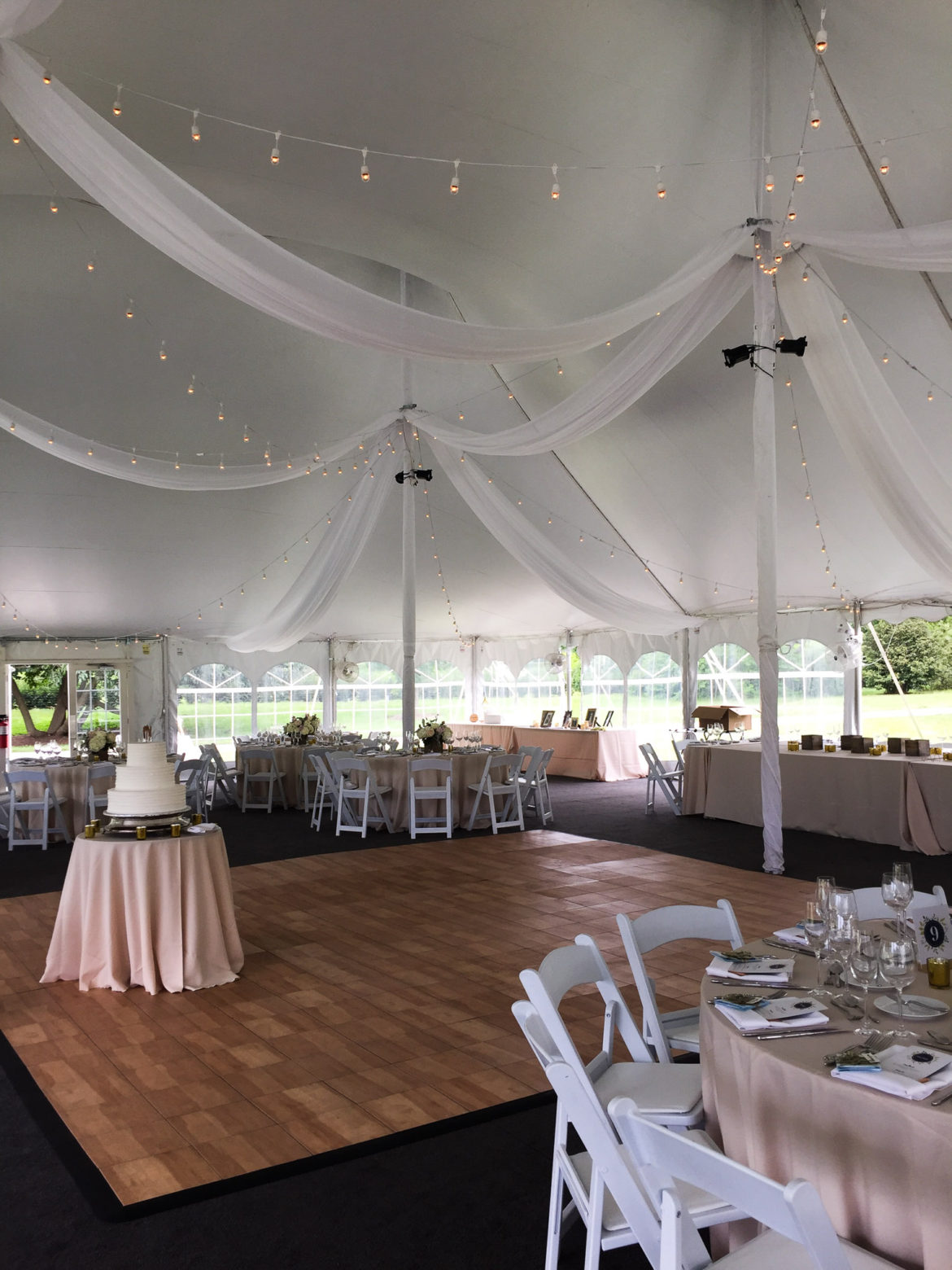 Elegant_Event_Lighting_Chicago_The_Morton_Arboretum_Lisle_White_White_Pavilion_Wedding_Cafe_Globe_String_Lighting_Ceiling_Draping