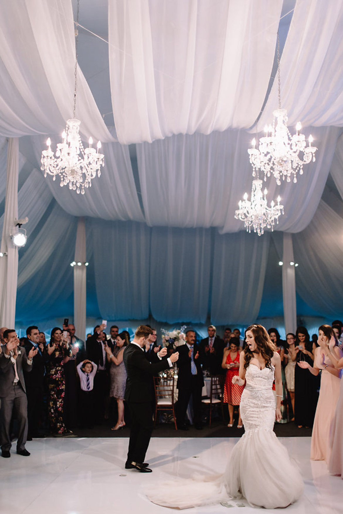 Elegant_Event_Lighting_Chicago_The_Morton_Arboretum_Lisle_White_White_Pavilion_Wedding_White_Sheer_Ceiling_Drapes_Crystal_Chandeliers_White_Dance_Floor