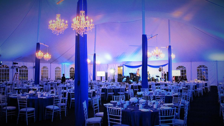 Elegant_Event_Lighting_Chicago_True_Blue_Galla_Police_Station_Blue_Uplighting_Crystal_Chandeliers