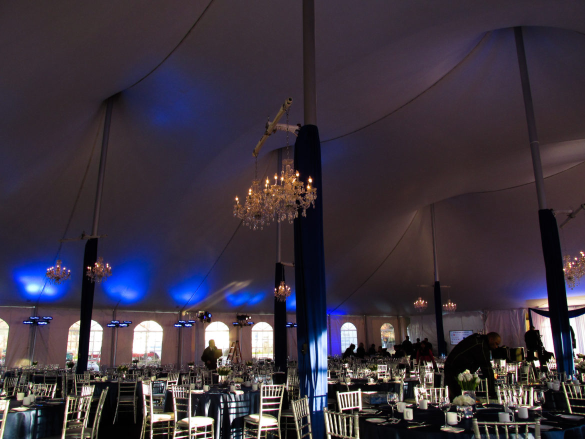 Elegant_Event_Lighting_Chicago_True_Blue_Galla_Police_Station_Blue_Uplighting_Crystal_Chandeliers