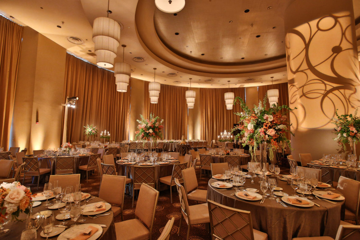 Elegant_Event_Lighting_Chicago_Trump-International-Hotel-Towers_Wedding_Pattern_Lighting_Illuminated_Monogram