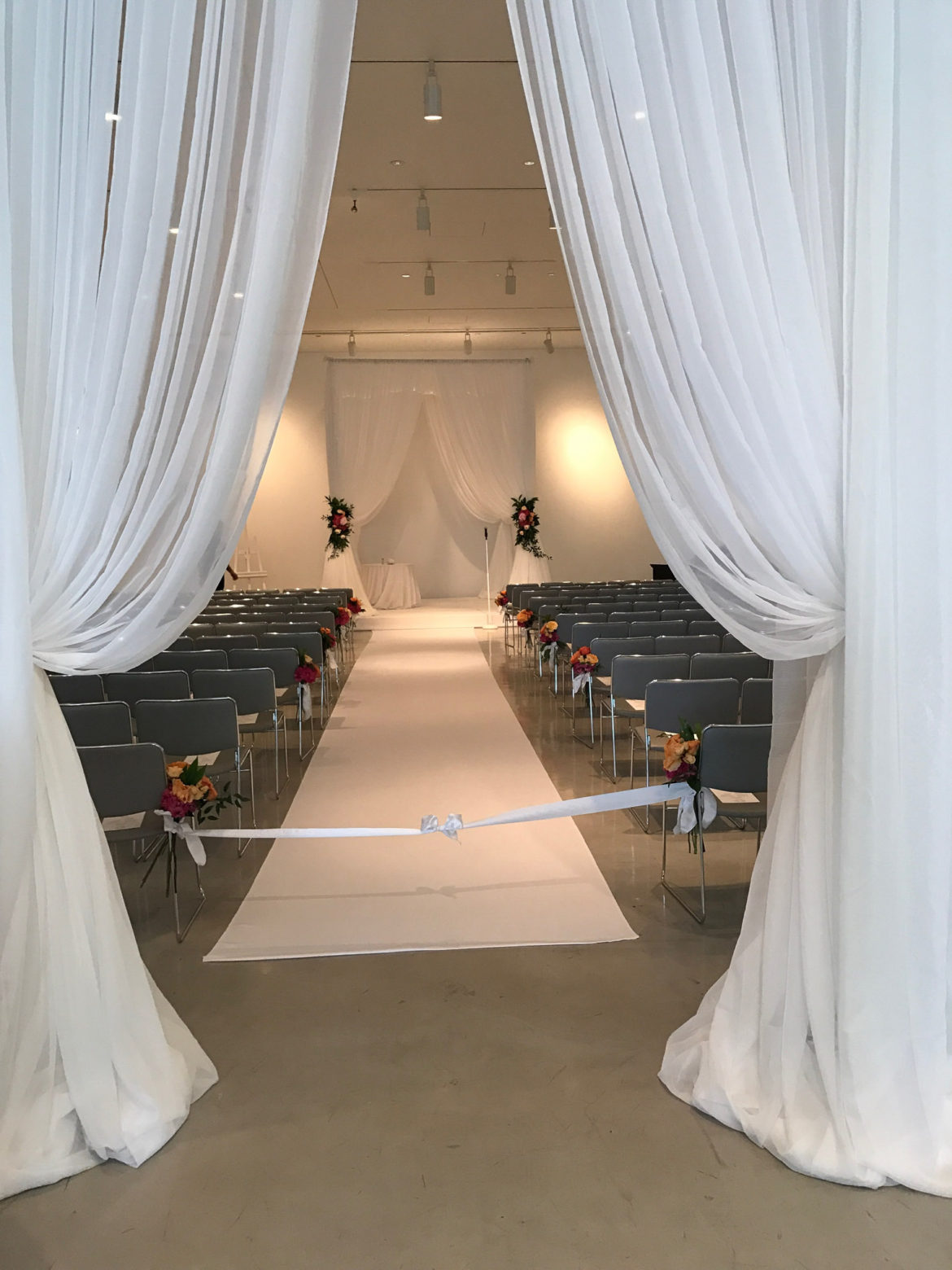 Elegant_Event_Lighting_Chicago_Venue_Six_10_Wedding_White_Bridal_Canopy_Chuppah_Entrance