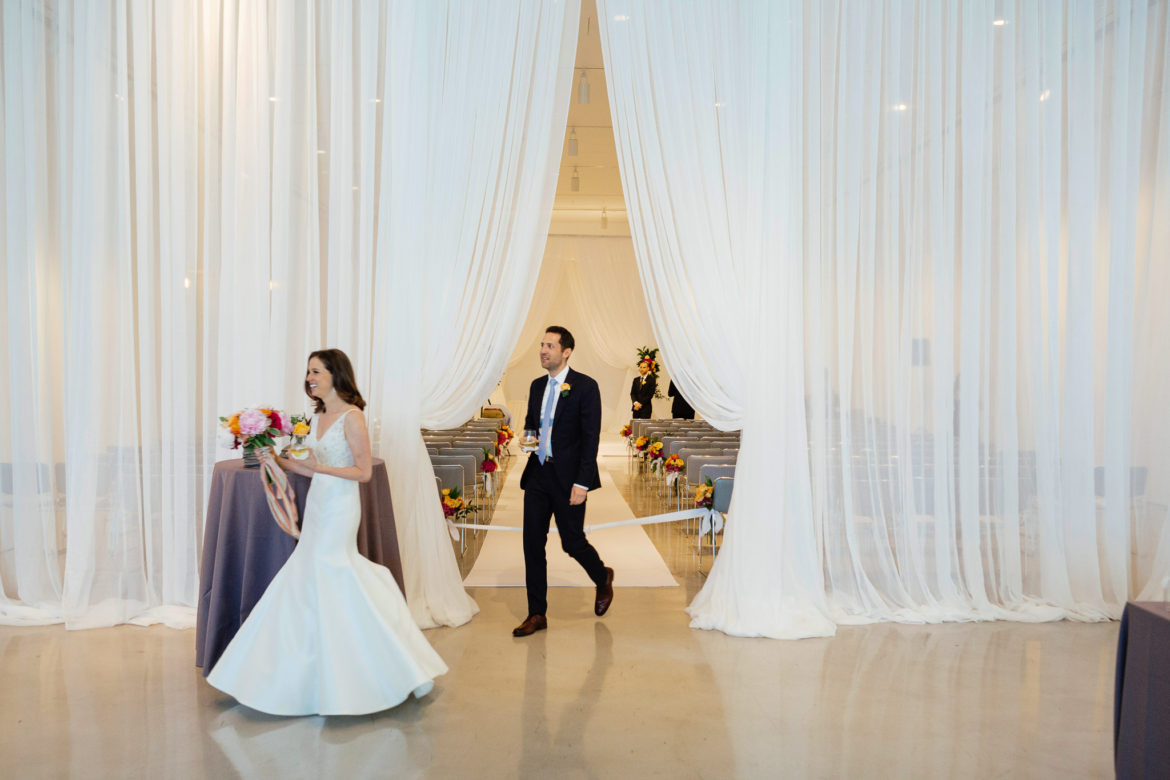 Elegant_Event_Lighting_Chicago_Venue_Six_10_Wedding_White_Entrance_Draping