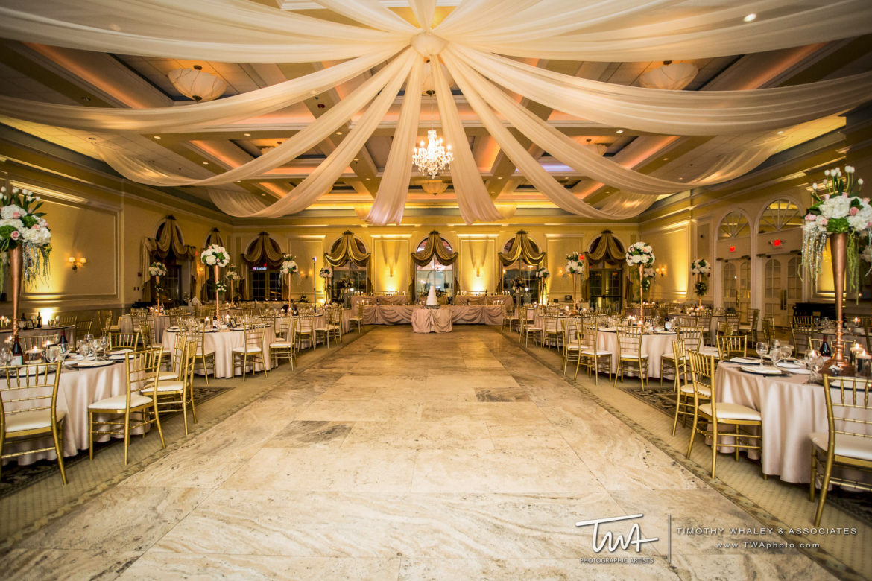 Elegant_Event_Lighting_Chicago_Venutis_Addison_Wedding_Crystal_Chandelier_Ceiling_Drapes