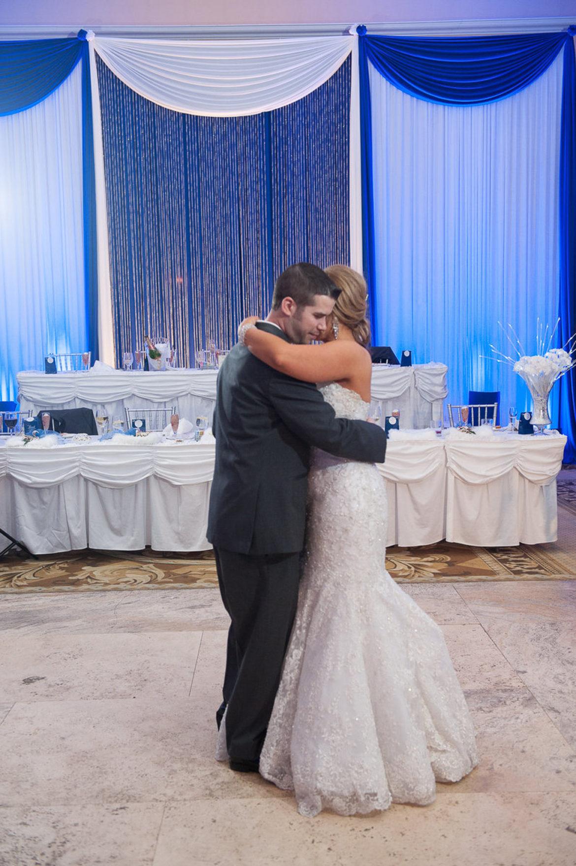 Elegant_Event_Lighting_Chicago_Venutis_Addison_Wedding_Crystal_Curtain_Backdrop_First_Dance_Reception