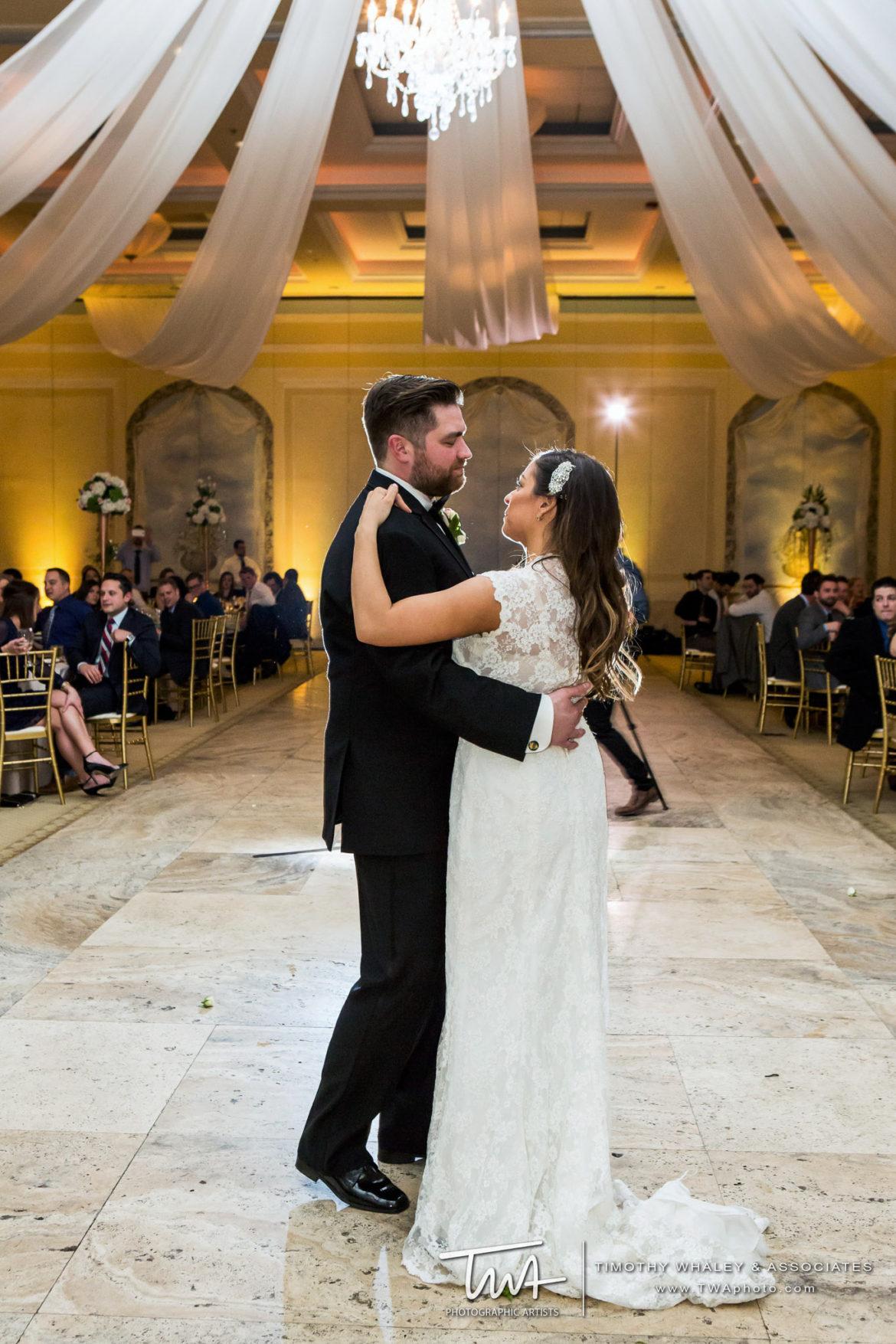 Elegant_Event_Lighting_Chicago_Venutis_Addison_Wedding_First_Dance_Ceiling_Drapes