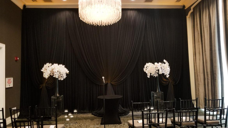 Elegant_Event_Lighting_Chicago_Waldorf_Astoria_Wedding_Black_Backdrop_Draping