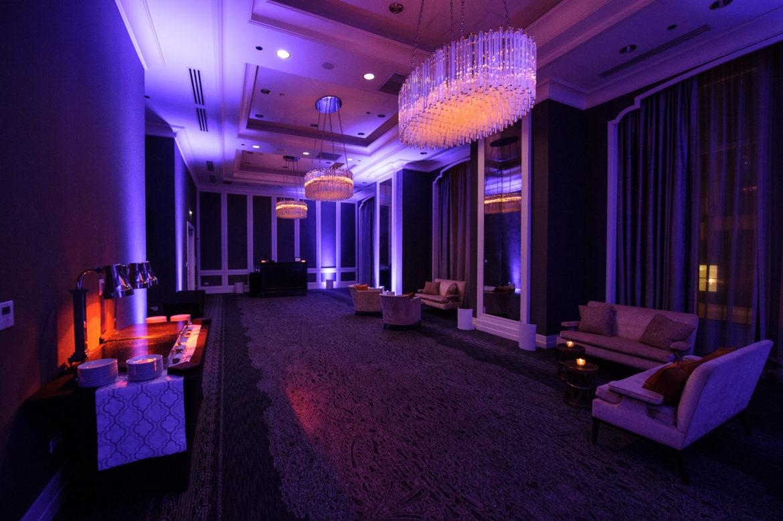 Elegant_Event_Lighting_Chicago_Waldorf_Astoria_Wedding_Purple_Uplighting