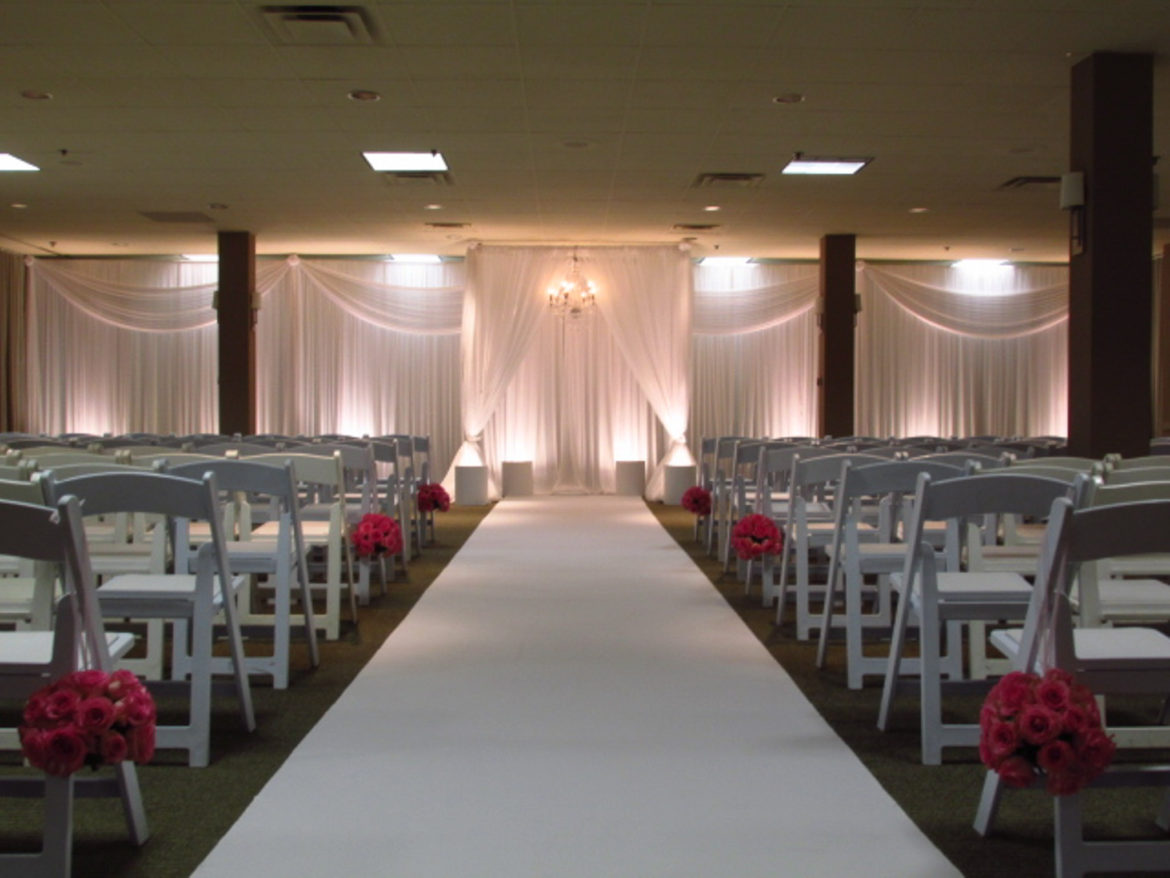 Elegant_Event_Lighting_Chicago_Westin_Itasca_Wedding_Ceremony_Arch_Crystal_Chandlier_Backdrop