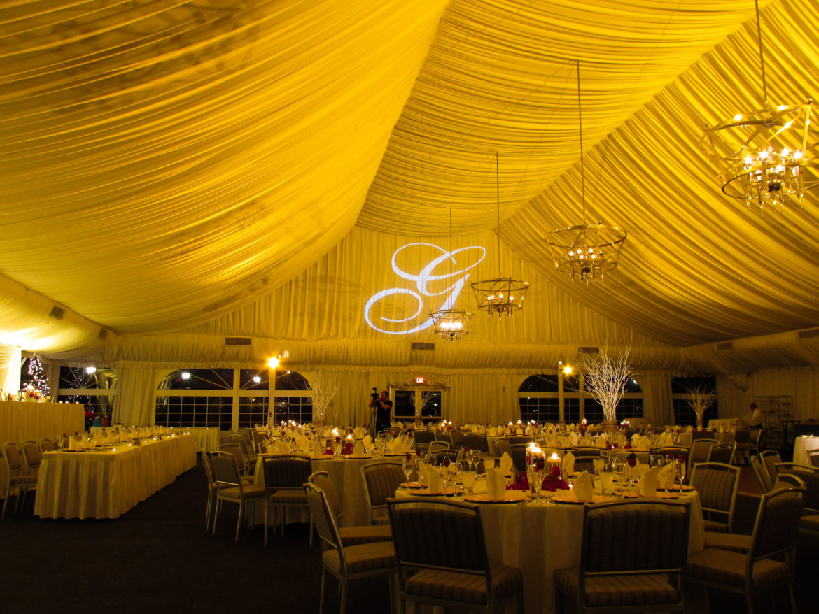 Elegant_Event_Lighting_Chicago_Westin_Itasca_Wedding_Gold_Ceiling_Lighting_Monogram