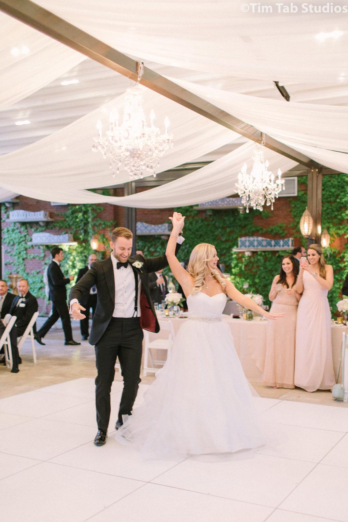 Elegant_Event_Lighting_Galleria_Marchetti_La_Pergola_Wedding_First_Dance_Crystal_Chandelier_Romantic_Ceiling_Draping_Elegant