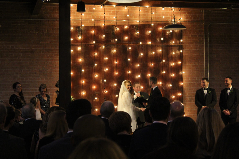 Elegant_Event_Lighting_Morgan_Manufacturing_Wedding_Ceremony_Cafe_Lights_Amber Uplighting