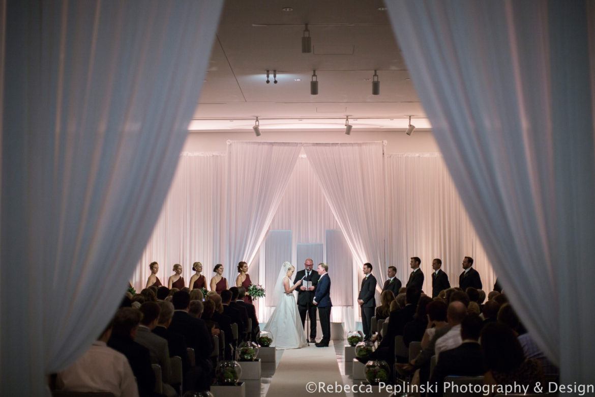 Elegant_Event_Lighting_Venue_Six10_Chicago_Wedding_Ceremony_Draping_Arch