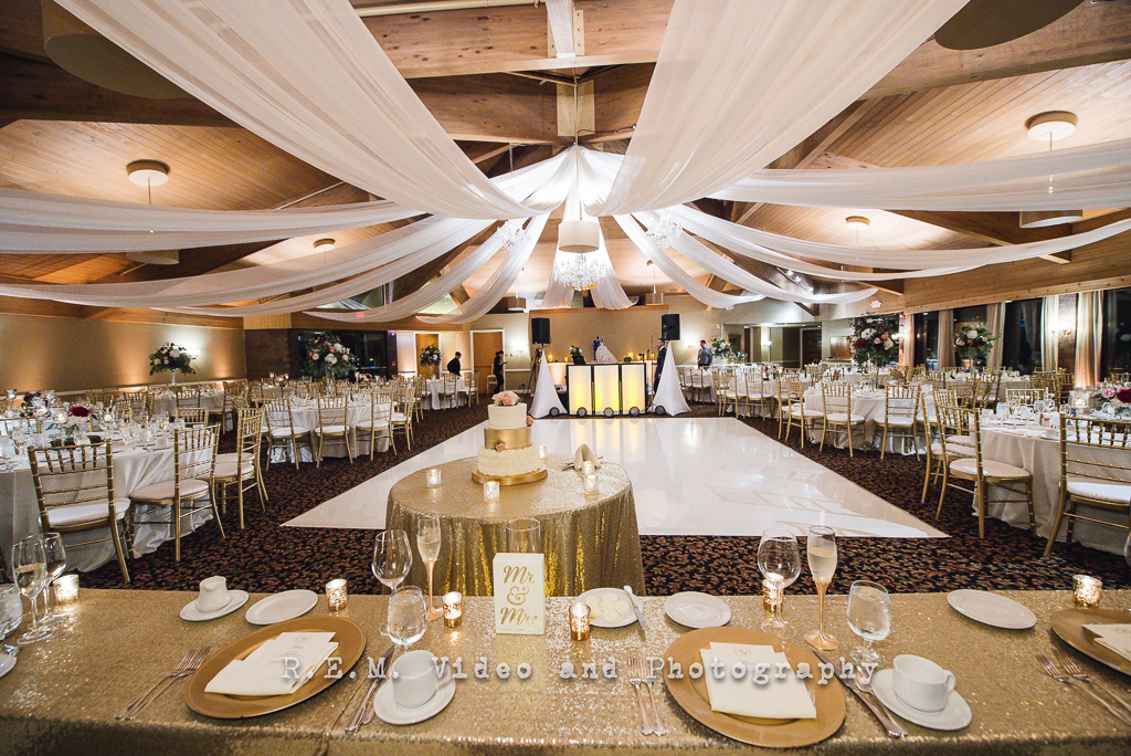 The Reception Room Transformation Was Breathtaking With White Ceiling D Crystal Chandeliers Amber Uplighting As A Focal Point To