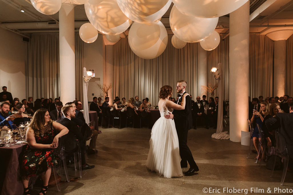Elegant_Event_Lighting_Chez_Chicago_Wedding_Reception_Dance_Balloon_Spheres_First_Dance