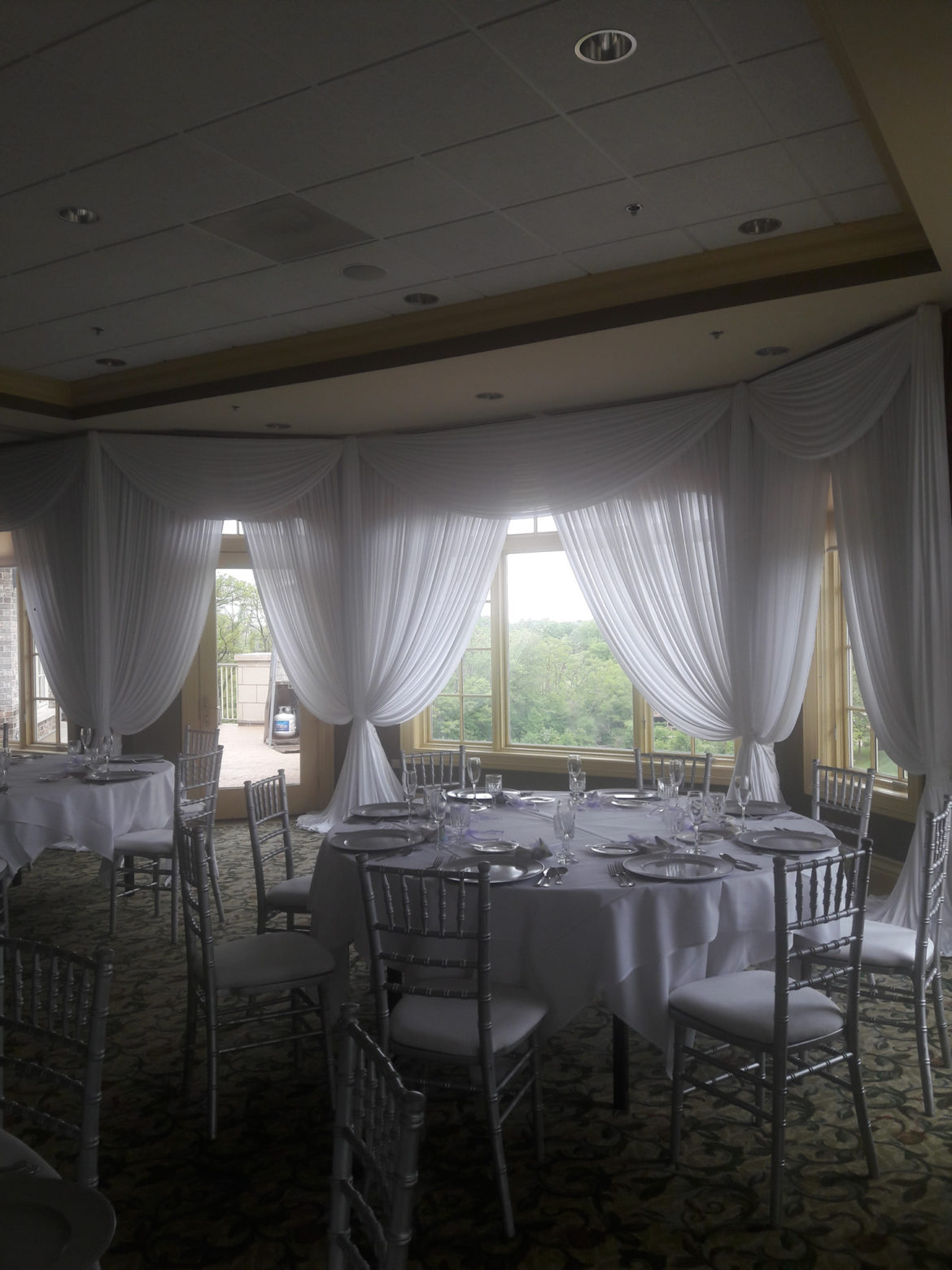 Elegant_Event_Lighting_Chicago_Crystal_Tree_Country_Club_Orland_Park_Wedding_White_Fabrric_Backdrop_Wall_Draping