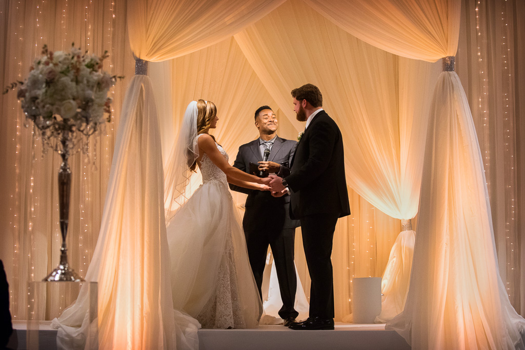 Elegant_Event_Lighting_Hotel_Arista_Naperville_Wedding_Ceremony_Amber_Ivory_Draping_Chuppah