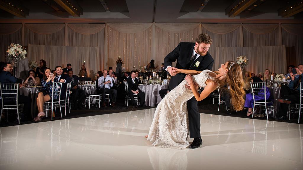 Elegant_Event_Lighting_Hotel_Arista_Naperville_Wedding_White_Vinyl_Dance_floor_Fairy_light)Backdrop