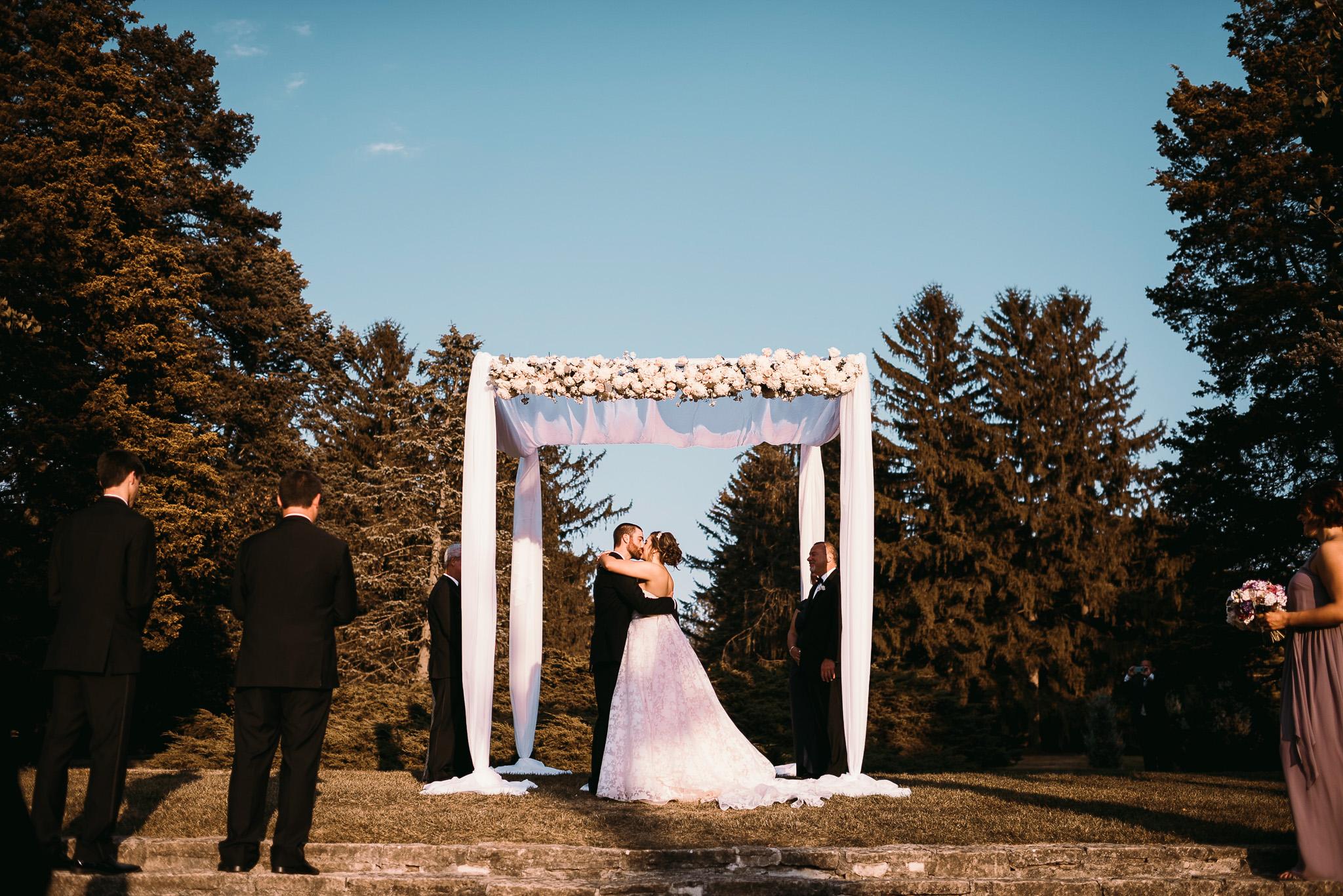 Julie & Bryan's Wedding at the Morton Arboretum Gingko Room