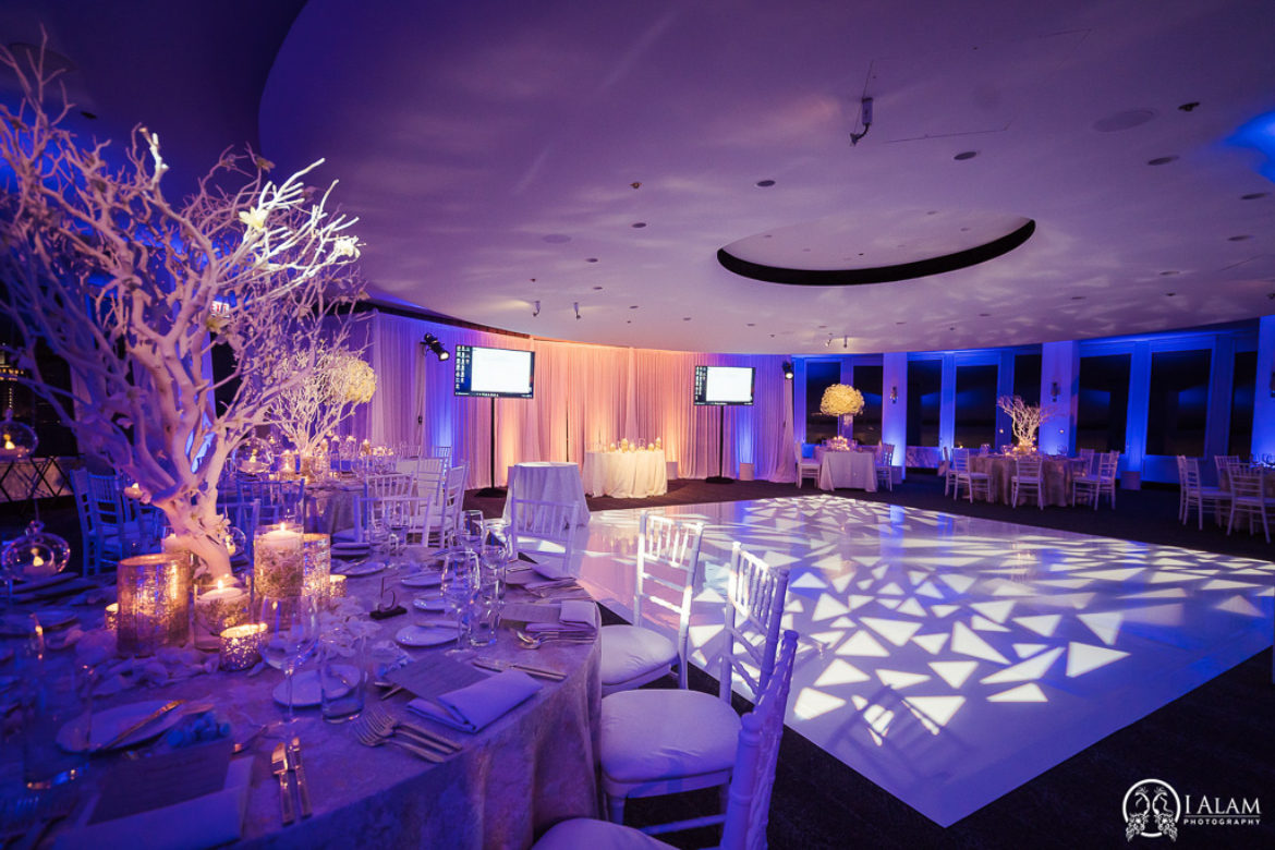 Elegant_Event_Lighting_W_Hotel_Chicago_Wedding_White_Dance_Floor_Pattern_Lighting_Amber_Blue_Draping