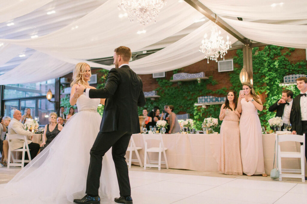 Elegant_Event_Lighting_Chicago_Galleria_Marchetti_Wedding_Twinkle_Ceiling_Drapes_Crystal_Chandelier_Ceremony_First_Dance-1